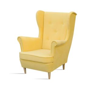 Fotel musztardowy